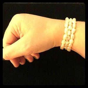 3 Cultured Freshwater Pearl Stretch Bracelets